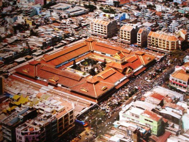 Toàn cảnh khu chợ nhìn từ trên cao