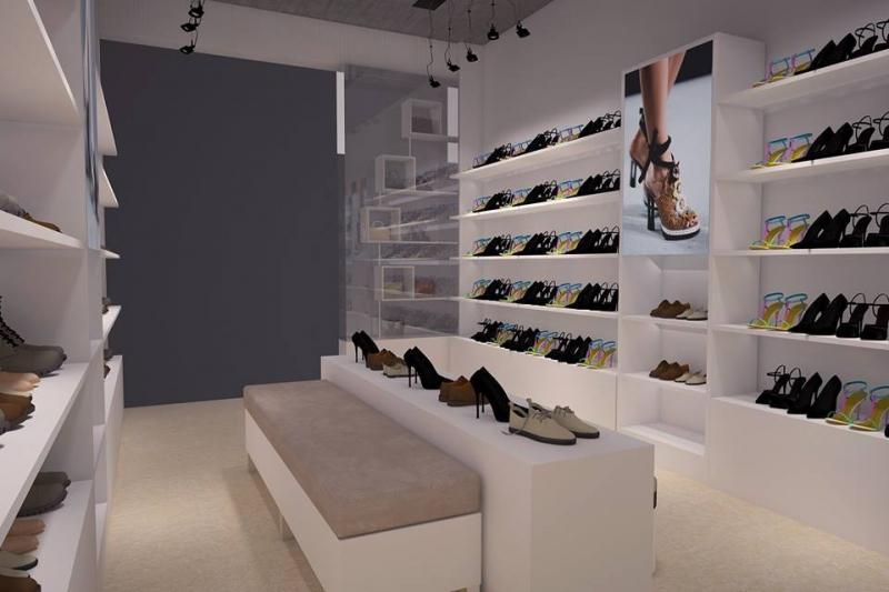 Một góc cửa hàng nhỏ của thương hiệu giày Kaleea.