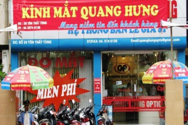 Cửa hàng kính mắt Quang Hưng