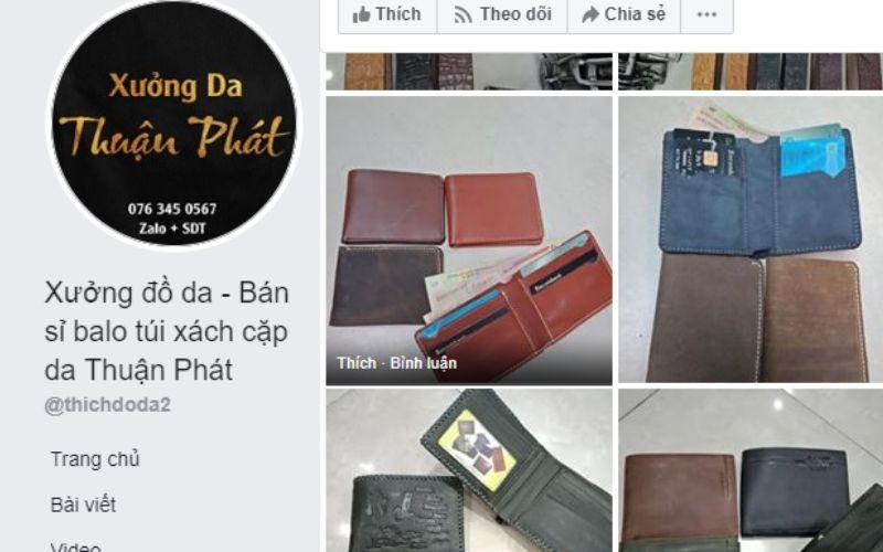 Xưởng ví cầm tay nam Thuận Phát