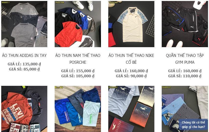 bán quần áo thể thao giá sỉ